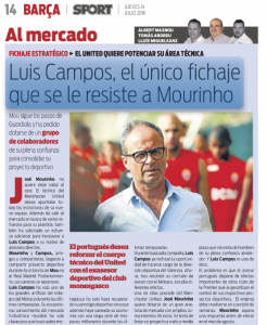 Mourinho Luis Campos Sport July 14th