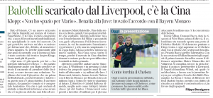 Mario Balotelli Corriere della Sera July 14th