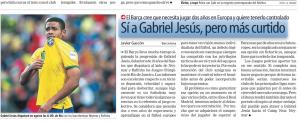Sport Gabriel Jesus July 17th