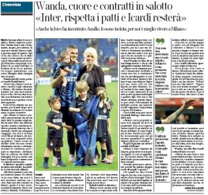 Wanda Nara Mauro Icardi Corriere della Sera July 13th