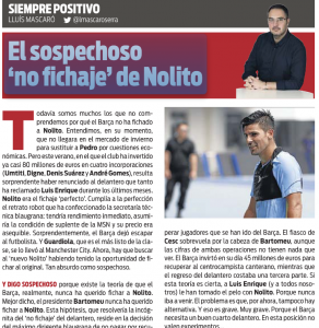 Nolito Sport August 1st