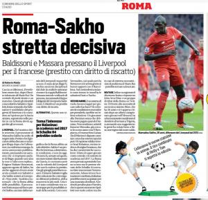 Sakho Corriere dello Sport August 1st