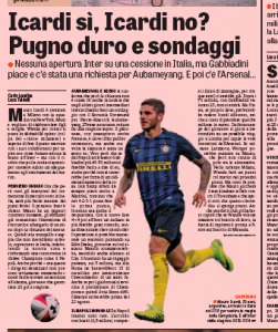 Mauro Icardi Gazzetta dello Sport August 2nd