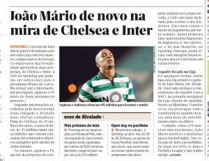 Joao Mario Diairio de Noticias August 11th