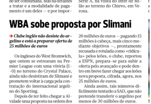 West Brom Slimani A Bola