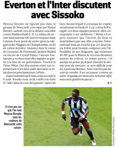 L'Equipe Sissoko August 16th