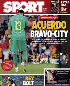 Claudio Bravo Sport August 16th