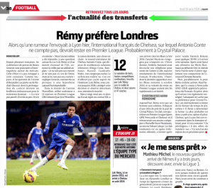 Loic Remy L'Equipe August 18th