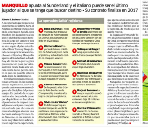 Javier Manquillo Marca August 23rd