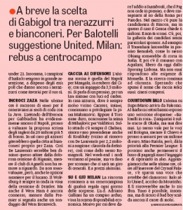 Balotelli Gazzetta August 24th