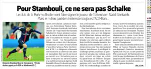 Nabil Bentaleb L'Equipe August 24th