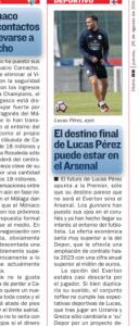 Lucas Perez AS August 25th