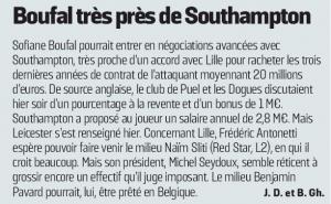 Sofiane Boufal L'Equipe August 26th