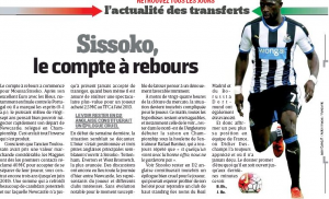 Moussa Sissoko L'Equipw August 31st