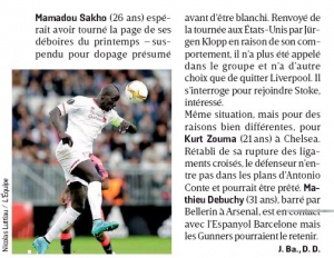 L'Equipe Debuchy Sakho August 31st