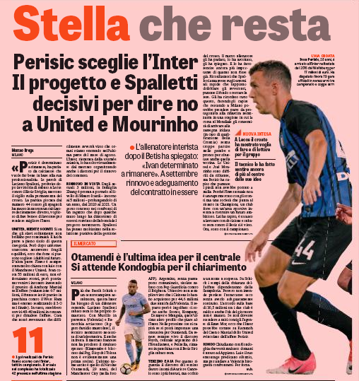 Manchester United re-open talks to sign Ivan Perisic, would cost £48m