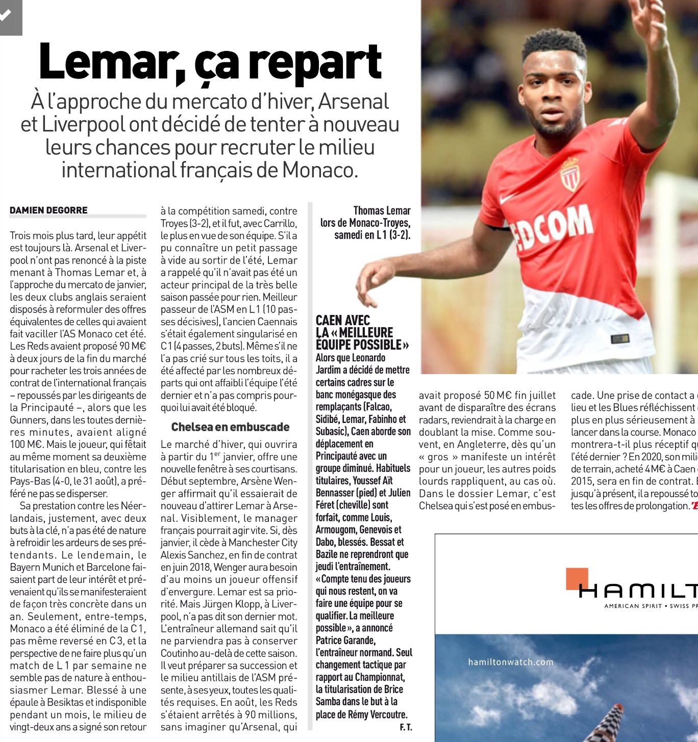 Chelsea join the race for Thomas Lemar