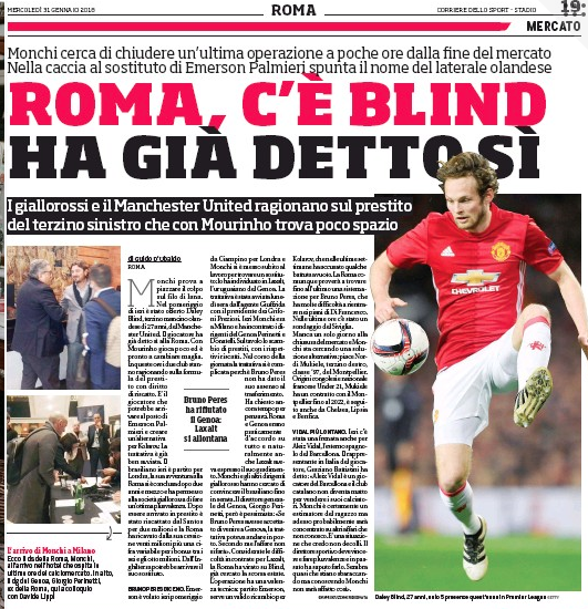 Jose Mourinho wants Roma deal as Daley Blind talks rumble on