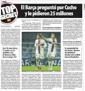 Pozzo family tell Barcelona it'll be ?25m for Watford transfer, clubs building relationship