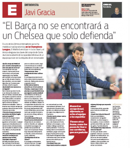 Gracia talks to Spanish press again, bet you can't guess what Watford manager was asked about