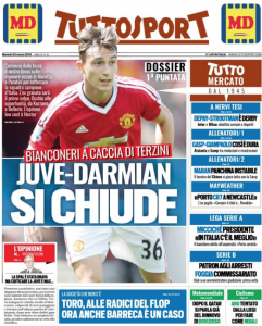 Man United transfer front page news, now in final stage of talks, 60% chance it's wrapped up