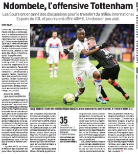 'Determined' Levy begins Tottenham talks to sign player, ?40m offer in discussion