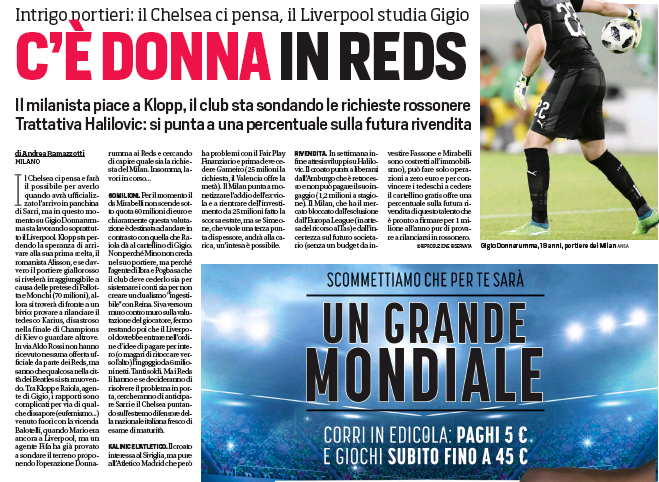 Liverpool boss Klopp to revive Raiola talks for AC Milan keeper Donnarumma