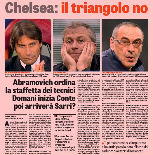 Next Chelsea manager: Antonio Conte begins pre-season training amid Sarri rumours