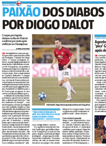 Manchester United player highlighted in home country press, 'left club legends impressed'