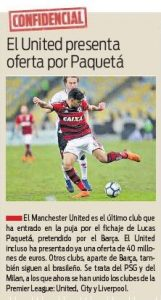 From Spain: Manchester United have made £35m+ offer for player ahead of next window