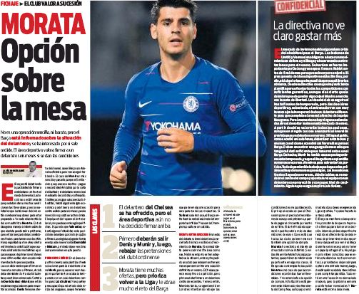 Atletico in talks with Chelsea over Morata deal
