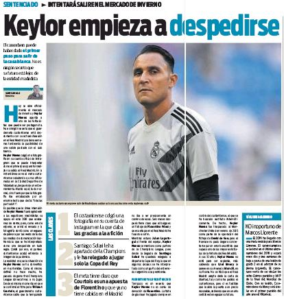 Keylor Navas says goodbye to Real Madrid fans after Arsenal table bid