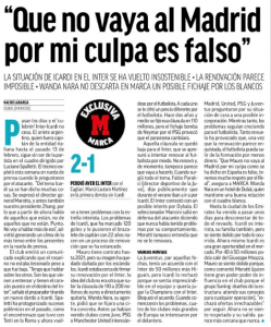 Spanish newspaper Marca explain Man United in tussle with