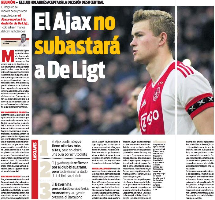 Van der Vaart urges Barcelona target De Ligt to choose Bayern Munich