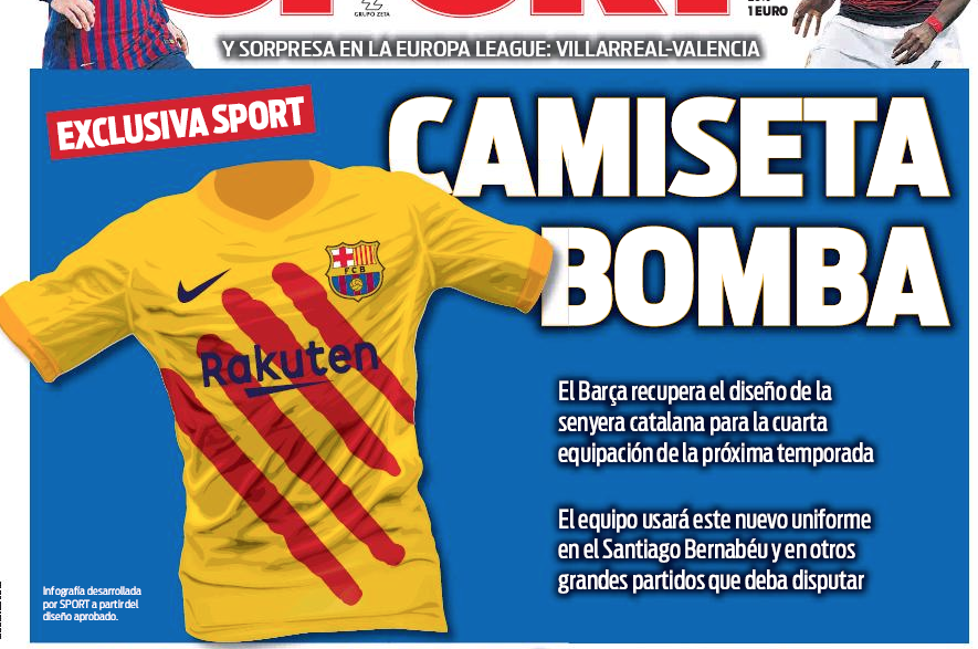 cheap for discount f7656 101c5 Barcelona will have a special fourth kit for big matches ...