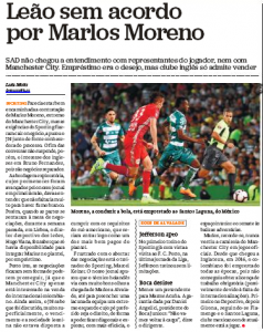 Sporting's deal with Man City collapses as clubs can't find an agreement