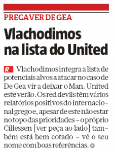 Manchester United said to be interested in 25 year old Greece international