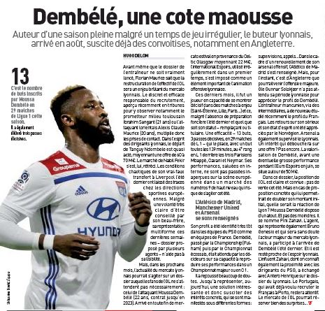 Man United 'make contact' with Lyon over £42m-rated striker Moussa Dembele