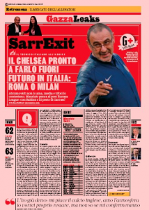 "From Italy: Chelsea preparing ""SarrExit"" after EL final – Abramovich has had enough"