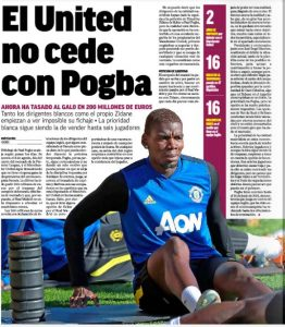 Marca: Signing Man United?s Paul Pogba now ?practically impossible? for Real Madrid