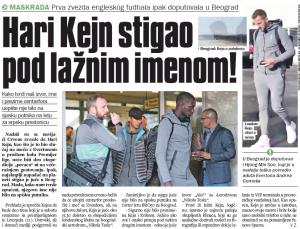 Strange story from Serbia about Tottenham's Harry Kane not being on plane passenger list