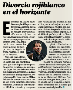 After previous attempt, Everton may be interested in claims 'divorce on horizon' for Simeone and Atlético