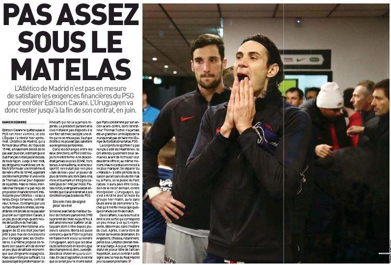Tuchel tells Edinson Cavani 'there are worse things' than staying at PSG