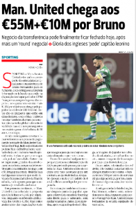 Bruno Fernandes: 'May be closed today' – Wednesday latest from Portugal on Manchester United transfer