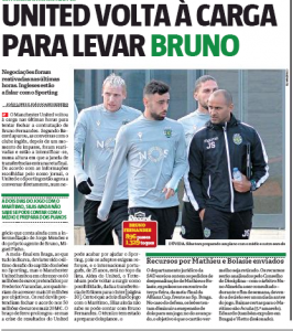 Euro Paper Talk: Bruno Fernandes deal back on as Man Utd up offer; Fenerbahce striker also set to sign for €25m