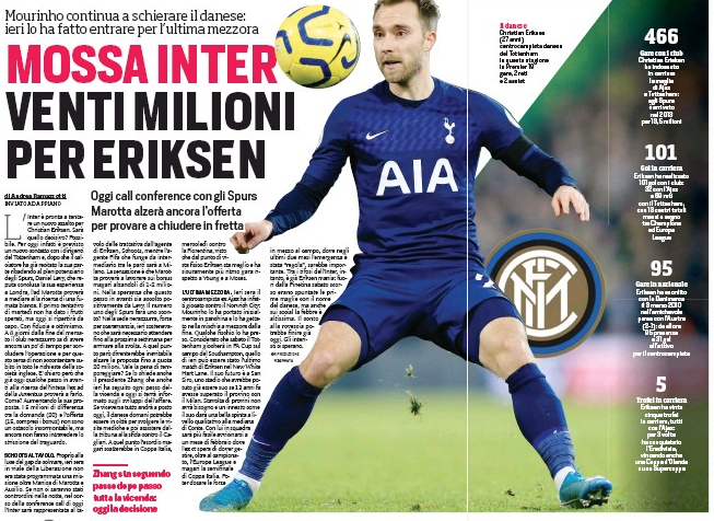 Eriksen wants to leave Tottenham