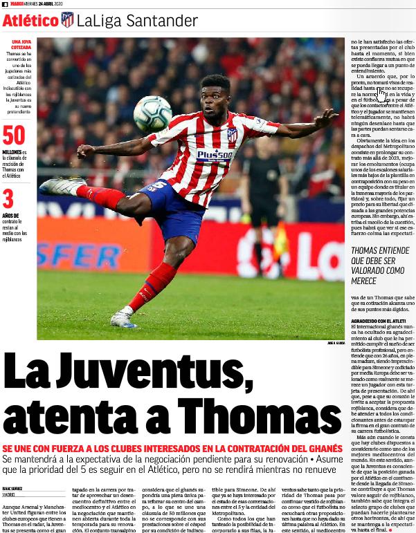 Atletico Madrid may lose Thomas Partey to Arsenal