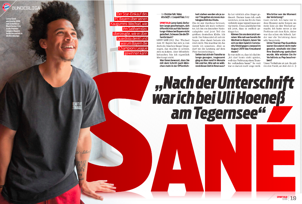 Sane says he will be happy if Man City wins Champions League