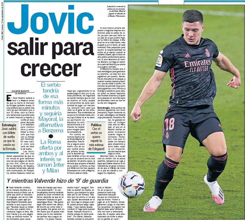 Luka Jovic prefers Manchester United move