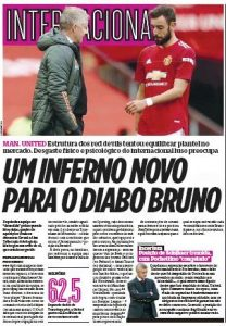 From Portugal: Man United worried about Bruno Fernandes' 'mental and physical wear'
